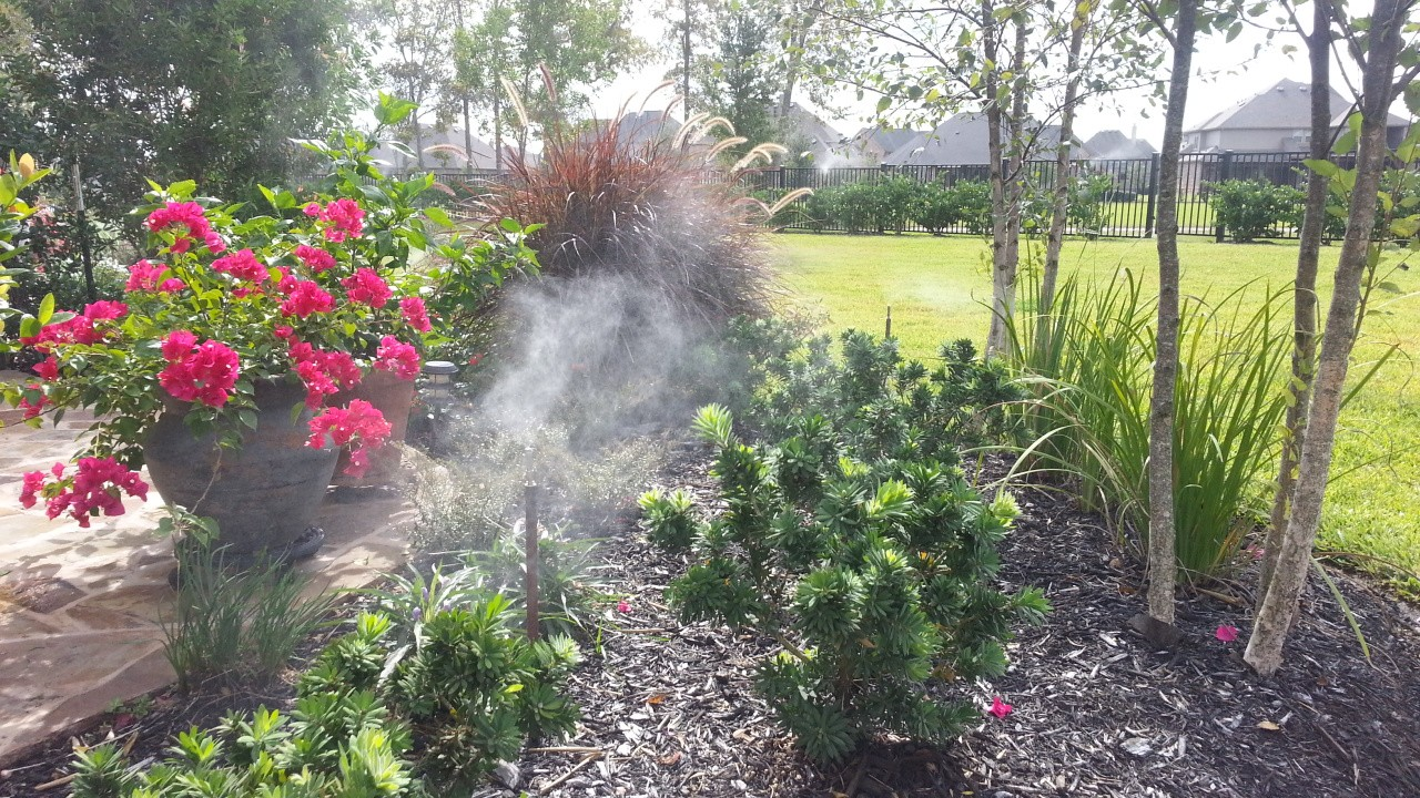 mosquito control houston misting system in garden