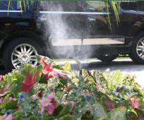 yard mosquito misting risers