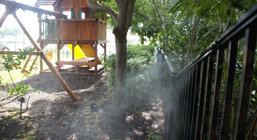 yard mosquito misting spraying